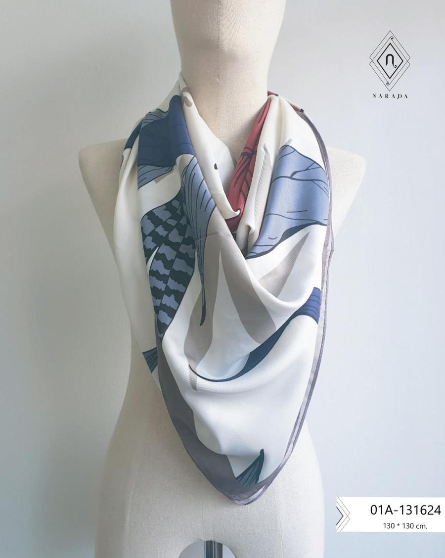 ผ้าพันคอ ผ้าคลุมไหล่ผืนใหญ่ 01A-131624