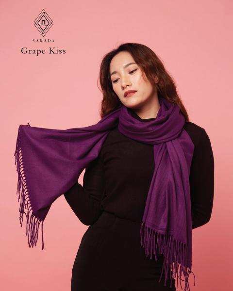 ผ้าพันคอแคชเมียร์  Grape Kiss