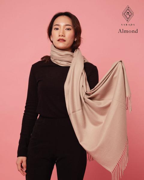 ผ้าพันคอแคชเมียร์ Almond
