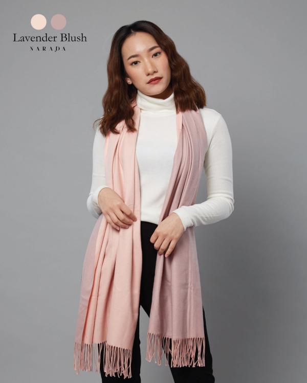 ผ้าพันคอแคชเมียร์ 2 โทน Lavender Blush