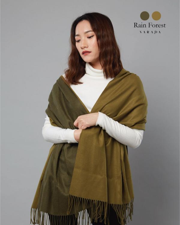 ผ้าพันคอแคชเมียร์ 2 โทน Rain Forest