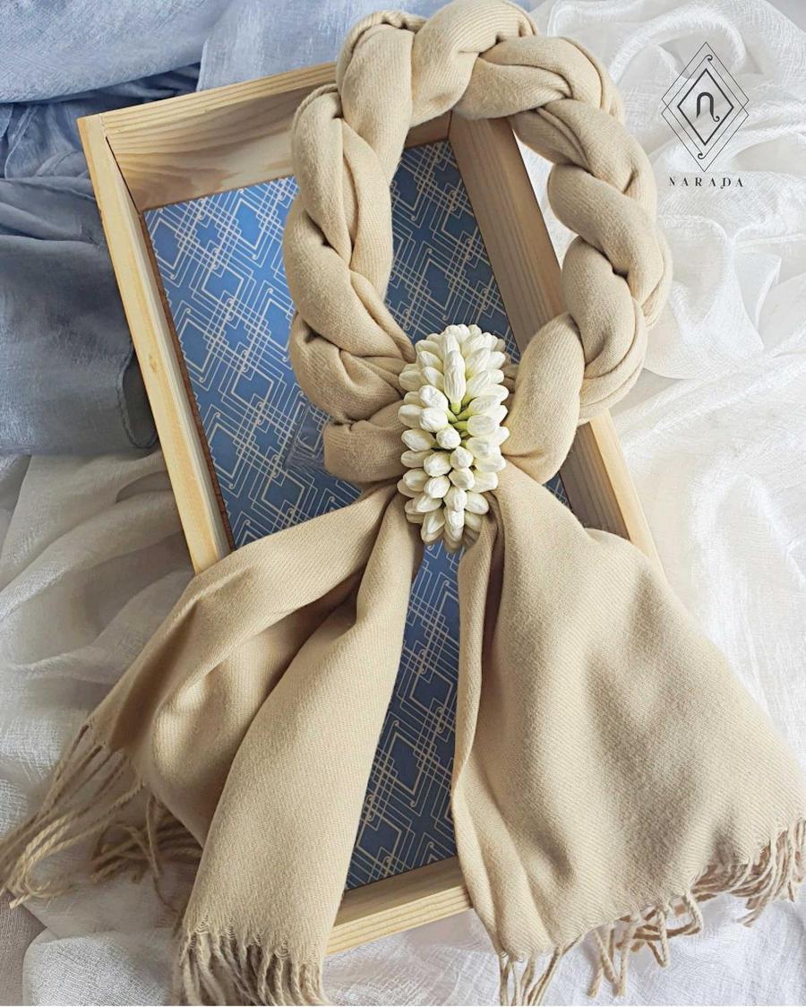 ของขวัญ มาลัยผ้าพันคอ ผ้าแคชเมียร์ มะลิล้อม
